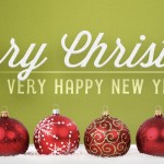 Merry Christmas  Happy New Year Web Banner
