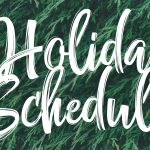 Holiday Schedule 2018 web banner